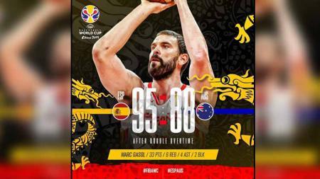 Timnas Spanyol vs Timnas Australia di FIBA World Cup 2019. - INDOSPORT
