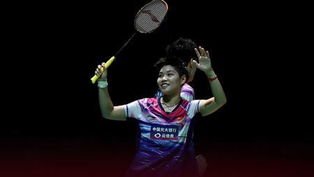 Pebulutangkis ganda campuran China, Huang Dongping, sukses menjadi juara Japan Open 2019. - INDOSPORT