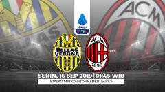 Indosport - Prediksi Hellas Verona vs AC Milan.
