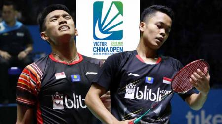 Jonatan Christie dan Anthony Ginting China Open 2019. - INDOSPORT