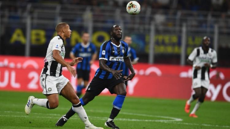 Lukaku saat beraksi di pertandingan Inter Milan vs Udinese, Minggu (15/09/19) dini hari WIB Copyright: Inter Milan
