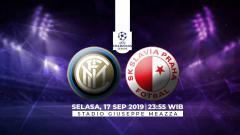 Indosport - Inter Milan vs SK Slavia Praha.