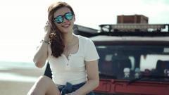 Indosport - Janice Woon Khe Wei, pebulutangkis cantik asal Malaysia.
