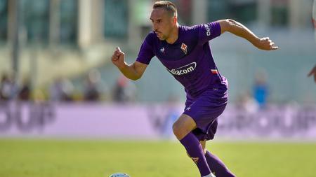 Frank Ribery saat memperkuat Fiorentina di laga melawan Juventus - INDOSPORT