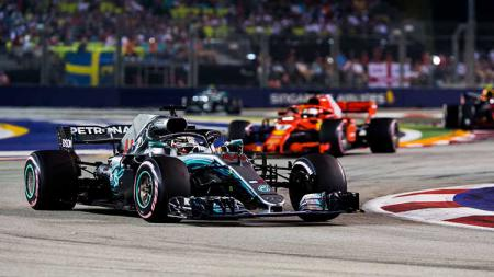 Mercedes bakal lakukan sedikit perombakan mesin untuk GP Jepang akhir pekan ini. - INDOSPORT