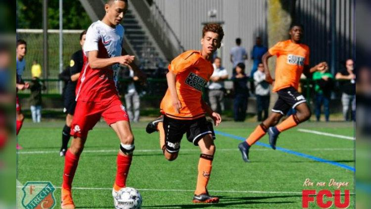 Ivar Jenner berlaga di Liga Belanda U-15. Copyright: Dokumen pribadi Ivar Jenner