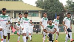 Indosport - Suasana latihan pemain PSMS Medan.