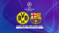 Indosport - Link live streaming pertandingan Borussia Dortmund vs Barcelona, match day 1 Liga Champions 2019/20 Grup F, Rabu (18/09/19), pukul 02.00 WIB, di Signal Iduna.