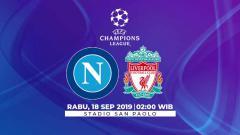 Indosport - Berikut link streaming pertandingan Liga Champions 2019/20 antara Napoli vs Liverpool yang berlangsung pada Rabu (18/9/19) pukul 02.00 WIB.
