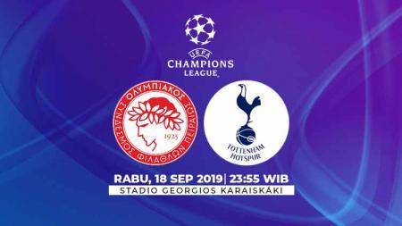 Prediksi pertandingan Liga Champions 2019/20 antara Olympiakos menghadapi Tottenham Hotspur yang akan digelar di Stadion Georgios Karaiskakis pada Rabu (18/09/19). - INDOSPORT