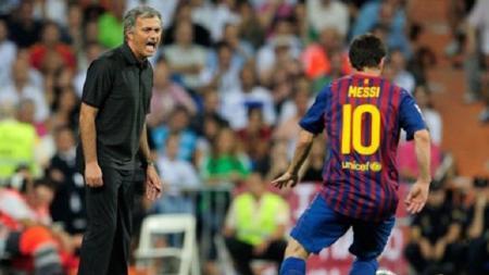 Jose Mourinho mengungkap peran Lionel Messi dalam perkembangan kariernya sebagai pelatih. - INDOSPORT