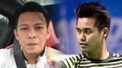 Indosport - Tontowi Ahmad memiliki permintaan khusus ke Ariel Noah yang berulang tahun ke-38.