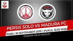 Indosport - Laga pekan ke-15 Liga 2 2019 wilayah timur antara Persis Solo melawan Madura FC (18/9/19) bisa disaksikan secara langsung melalui live streaming di TV One.