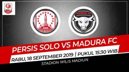 Laga pekan ke-15 Liga 2 2019 wilayah timur antara Persis Solo melawan Madura FC (18/9/19) bisa disaksikan secara langsung melalui live streaming di TV One. - INDOSPORT