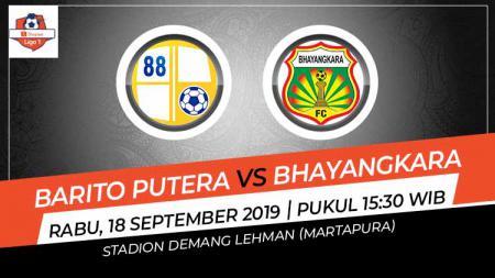 Pertandingan Barito Putera vs Bhayangkara FC. - INDOSPORT