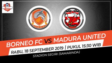 Pertandingan Borneo FC vs Madura United. - INDOSPORT