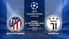 Indosport - Pertandingan Atletico Madrid vs Juventus.