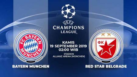 Prediksi pertandingan sepak bola Liga Champions 2019/20 antara Bayern Munchen menghadapi Red Star Belgrade, Kamis (19/09/19) pukul 02.00 dini hari WIB. - INDOSPORT