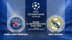 Pertandingan Paris Saint-Germain vs Real Madrid.