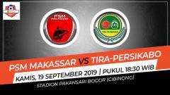 Indosport - Pertandingan PSM Makassar vs Tira-Persikabo.
