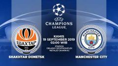 Indosport - Pertandingan Shakhtar Donetsk vs Manchester City.
