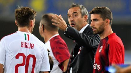 Kegagalan AC Milan dianggap bukan salah Marco Giampaolo melainkan pemainnya sendiri yang tidak memiliki naluri dan gagal mengikuti instruksi. - INDOSPORT