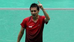 Indosport - Alvent Yulianto, mantan pemain bulutangkis saat berlaga di Asian Games 2010 bersama Mohammad Ahsan.