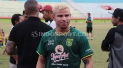 Diogo Campos saat berada di Stadion Gelora Delta, Sidoarjo. Selasa (17/09/19).