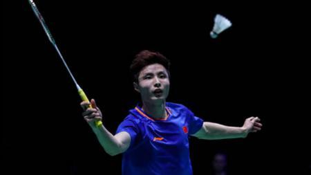 Pebulutangkis asal China, Shi Yuqi curhat usai dikalahkan pebulutangkis 'gurem' di babak kedua Hong Kong Open 2019. - INDOSPORT