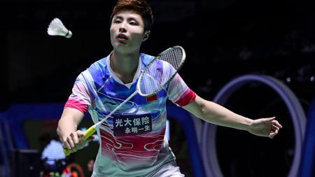 Pebulutangkis tunggal putra China, Shi Yuqi tersingkir oleh rekan senegaranya Lu Guangzu di babak pertama China Open 2019, Rabu (18/9/19). - INDOSPORT