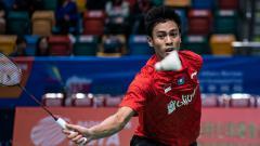 Indosport - Shesar Hiren Rhustavito saat bertanding di Badminton Asia Mixed Team Championships 2019
