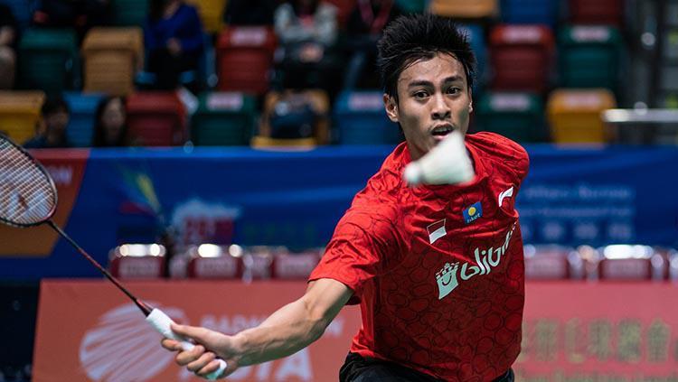 Shesar Hiren Rhustavito saat bertanding di Badminton Asia Mixed Team Championships 2019 Copyright: Ivan Shum/Getty Images