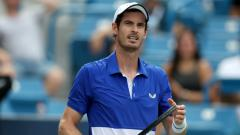 Indosport - Andy Murray dalam turnamen tenis Western and Southern Open.