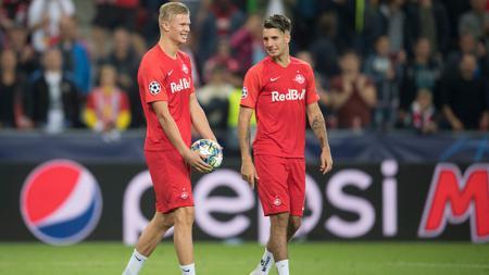 Klub sepak bola Serie A, Juventus dikabarkan bakal memborong dua bintang asal RB Salzburg pada bursa transfer Januari 2020. - INDOSPORT