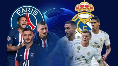 Prediksi duel per lini dalam laga Liga Champions 2019/20 PSG vs Real Madrid. - INDOSPORT