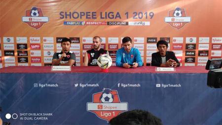 Konferensi Pers PSM Makassar di Media Center Stadion Andi Mattalatta, Makassar, Rabu (18/9/19) petang, sebelum melawan Tira Persikabo - INDOSPORT