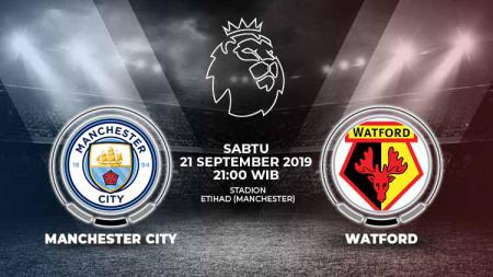 Pertandingan Manchester City vs Watford. - INDOSPORT