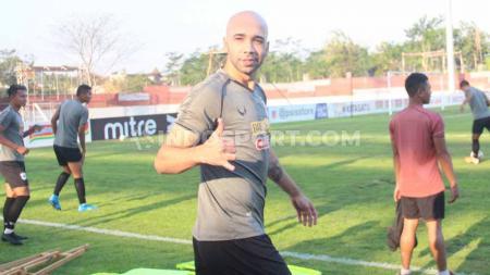 Striker klub Liga 1 2020 PSIS Semarang, Bruno Silva, ternyata memiliki keinginan terpendam untuk dinaturalisasi menjadi Warga Negara Indonesia (WNI). - INDOSPORT