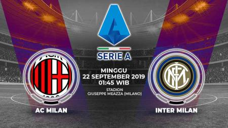 Pertandingan AC Milan vs Inter Milan. - INDOSPORT