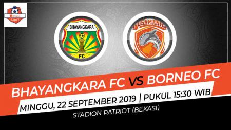 Pertandingan Bhayangkara FC vs Borneo FC. - INDOSPORT