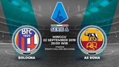 Indosport - Pertandingan Bologna vs AS Roma.