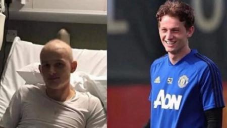 Bintang Manchester United, Max Taylor, yang terserang penyakit kanker. - INDOSPORT