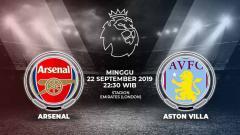 Indosport - Berikut link live streaming pertandingan Liga Inggris 2019/20 antara Arsenal melawan Aston Villa yang akan berlangsung hari ini, Minggu (22/9/19) pukul 22.30 WIB.