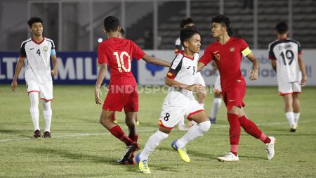 Laga pertandingan antara Brunai Darussalam U-16 vs Indonesia U-16 di Stadion Madya GBK Senayan, Jumat (20/09/19). - INDOSPORT