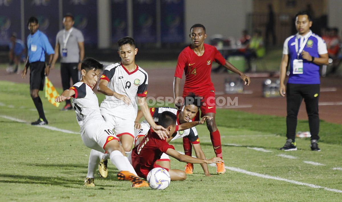 Laga pertandingan antara Brunai Darussalam U-16 vs Indonesia U-16 di Stadion Madya GBK Senayan, Jumat (20/09/19). Copyright: Herry Ibrahim/INDOSPORT