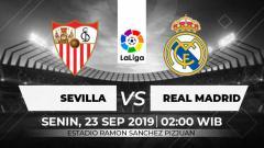Indosport - Berikut link live streaming pertandingan LaLiga Spanyol 2019/20 antara Sevilla vs Real Madrid yang berlangsung pada Senin (23/9/19) pukul 02.00 WIB.