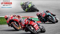 Indosport - Pembalap Spanyol Repsol Honda Team Marc Marquez (93), dan pembalap Italia Ducati Team Andrea Dovizioso (04).