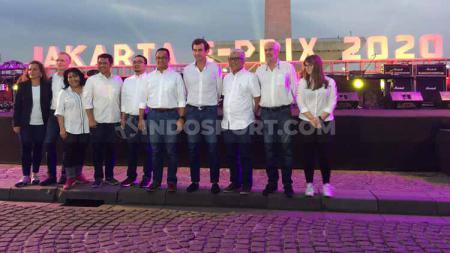 Gubernur DKI Jakarta, Anies Baswedan, baru saja meresmikan Jakarta sebagai tuan rumah ajang balap mobil listrik bergengsi, Formula E. - INDOSPORT
