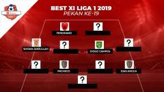 Indosport - Starting terbaik Liga 1 2019 pekan ke-19.