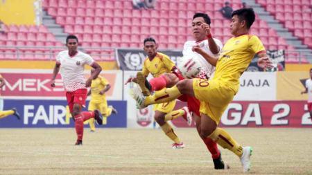 Laga pertandingan antara Sriwijaya FC vs Persibat Batang di Stadion Gelora Sriwijaya, Sabtu (21/09/2019). - INDOSPORT